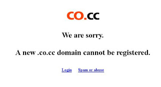free subdomain co.cc closed